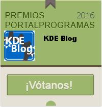 Nominado KDE Blog en los Premios PortalProgramas