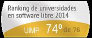 La UIMP en el Ranking de universidades en software libre. PortalProgramas.com