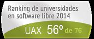 La UAX en el Ranking de universidades en software libre. PortalProgramas.com