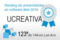La UCREATIVA en el Ranking de universidades en software libre. PortalProgramas.com