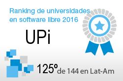 La UPi en el Ranking de universidades en software libre. PortalProgramas.com