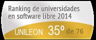 La UNILEON en el Ranking de universidades en software libre. PortalProgramas.com