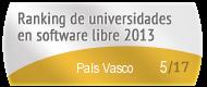 País Vasco en el Ranking de universidades en software libre. PortalProgramas.com