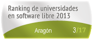 Aragón en el Ranking de universidades en software libre. PortalProgramas.com