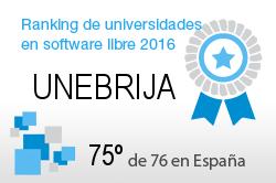 La UNEBRIJA en el Ranking de universidades en software libre. PortalProgramas.com