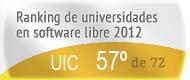La UIC en el Ranking de universidades en software libre. PortalProgramas.com