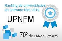 La UPNFM en el Ranking de universidades en software libre. PortalProgramas.com