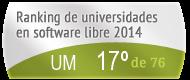 La UM en el Ranking de universidades en software libre. PortalProgramas.com