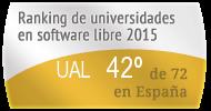 La UAL en el Ranking de universidades en software libre. PortalProgramas.com