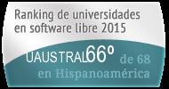 La UAUSTRAL en el Ranking de universidades en software libre. PortalProgramas.com