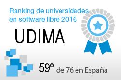 La UDIMA en el Ranking de universidades en software libre. PortalProgramas.com