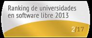 La  en el Ranking de universidades en software libre. PortalProgramas.com