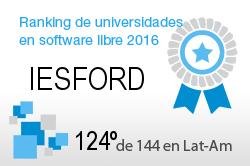 La IESFORD en el Ranking de universidades en software libre. PortalProgramas.com
