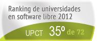 La UPCT en el Ranking de universidades en software libre. PortalProgramas.com
