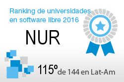 La NUR en el Ranking de universidades en software libre. PortalProgramas.com