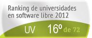 La UV en el Ranking de universidades en software libre. PortalProgramas.com