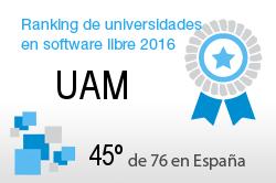 La UAM en el Ranking de universidades en software libre. PortalProgramas.com