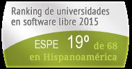 La ESPE en el Ranking de universidades en software libre. PortalProgramas.com