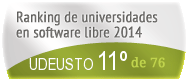 La UDEUSTO en el Ranking de universidades en software libre. PortalProgramas.com