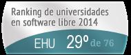 La EHU en el Ranking de universidades en software libre. PortalProgramas.com