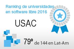 La USAC en el Ranking de universidades en software libre. PortalProgramas.com
