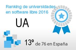 La UA en el Ranking de universidades en software libre. PortalProgramas.com