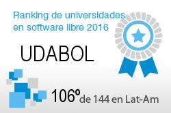 La UDABOL en el Ranking de universidades en software libre. PortalProgramas.com