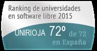 La UNIRIOJA en el Ranking de universidades en software libre. PortalProgramas.com