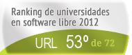 La URL en el Ranking de universidades en software libre. PortalProgramas.com