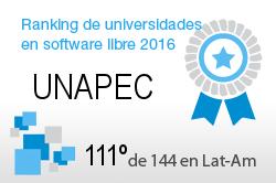 La UNAPEC en el Ranking de universidades en software libre. PortalProgramas.com