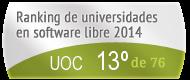 La UOC en el Ranking de universidades en software libre. PortalProgramas.com