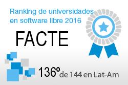 La FACTE en el Ranking de universidades en software libre. PortalProgramas.com