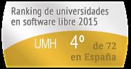 La UMH en el Ranking de universidades en software libre. PortalProgramas.com