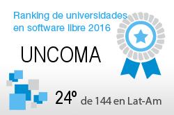La UNCOMA en el Ranking de universidades en software libre. PortalProgramas.com