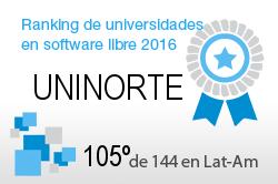 La UNINORTE en el Ranking de universidades en software libre. PortalProgramas.com