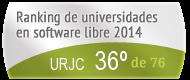 La URJC en el Ranking de universidades en software libre. PortalProgramas.com