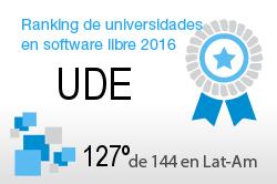La UDE en el Ranking de universidades en software libre. PortalProgramas.com