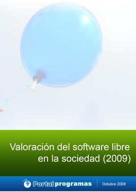 Portada de Valoracion del Software libre 2009