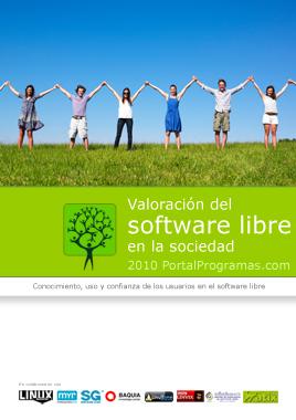 Portada de Valoracion del Software libre 2010