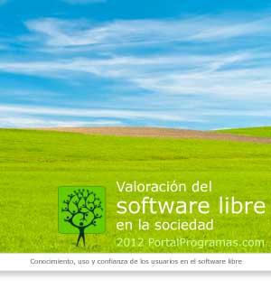 Portada del informe de valoracion del software libre 2012