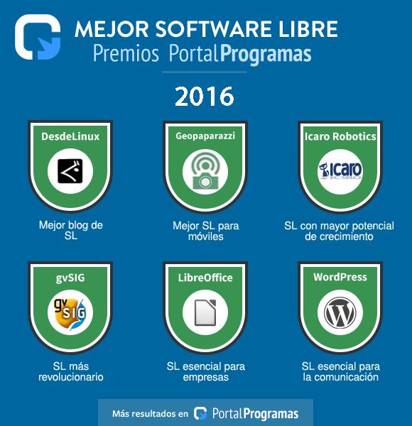 KDE Connect y KDE Blog obtienen el segundo puesto en los Premios PortalProgramas 2016