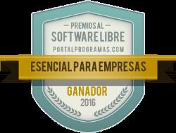 Ganador de los Premios PortalProgramas 2016 como Esencial para empresas