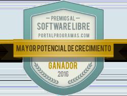 Ganador de los Premios PortalProgramas 2016 como Mayor potencial de crecimiento