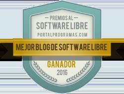 Ganador de los Premios PortalProgramas 2016 como Mejor blog de software libre