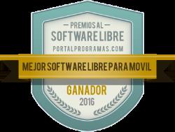 Ganador de los Premios PortalProgramas 2016 como Mejor software libre para móvil