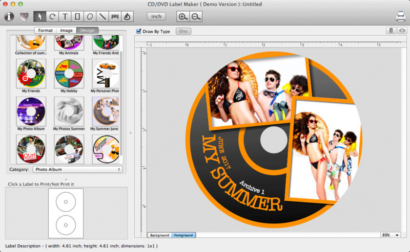 Iwinsoft mac cd dvd label maker for mac free download for Dvd label template for mac
