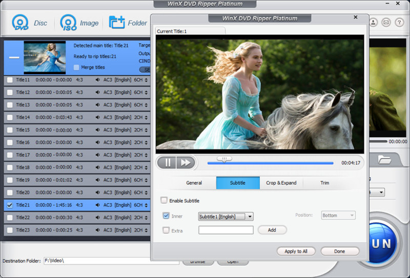 WinX DVD Ripper Platinum - Free Download