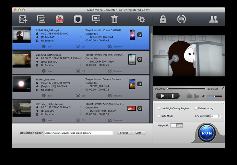 Free Online Quicktime Video Editor