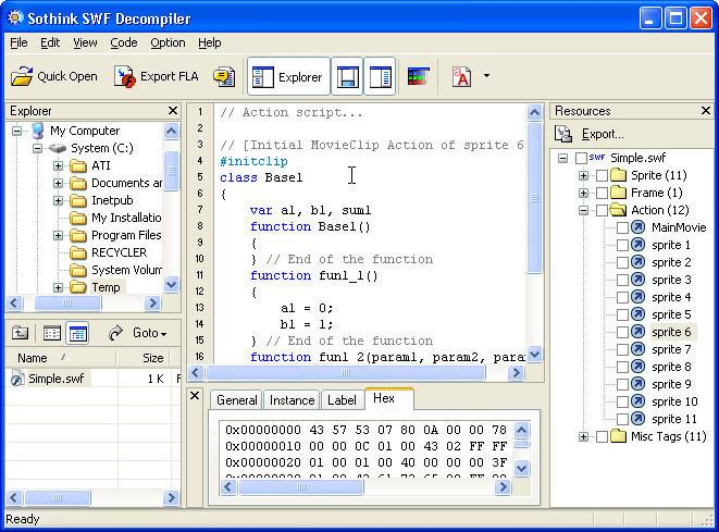 Sothink SWF Decompiler - Free Download