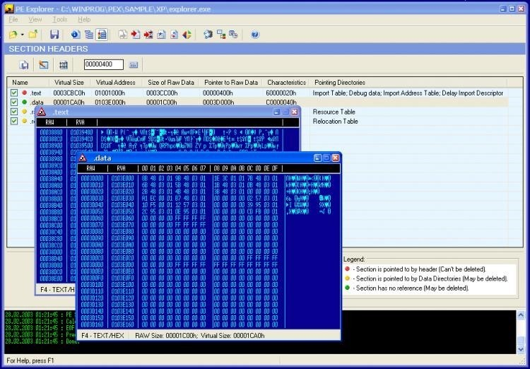 pe explorer disassembler